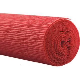 Бумага для творчества крепир.флорист. 50x250см,128г/м2,красная,170510