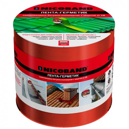 ТЕХНОНИКОЛЬ Никобенд гидроизоляционная лента 10см х 3м красный / NICOBAND гидроизоляционная лента 10см х 3м красная Технониколь 36984015