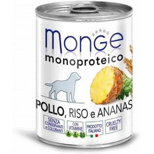 Monge Monge Dog Monoproteico Fruits консервы для собак паштет из курицы с рисом и ананасами 400 г