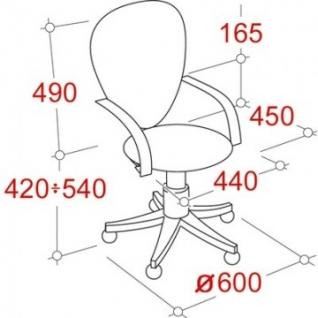Кресло UP_Кресло СН-320 чер.PU сетка TW-11 чер.