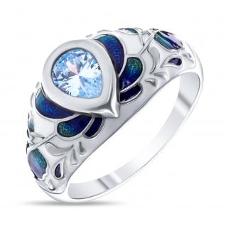 Кольцо из серебра с фианитом и эмалью TEOSA T-3647004363 T-3647004363 TEOSA