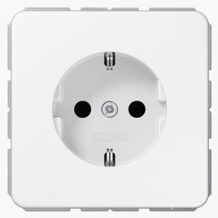 Розетка электрическая Jung CD1520WW SCHUKO 16A 250V~ с заземлением белая пластик