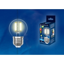 Uniel LED-G45-6W/WW/E27/CL PLS02WH картон