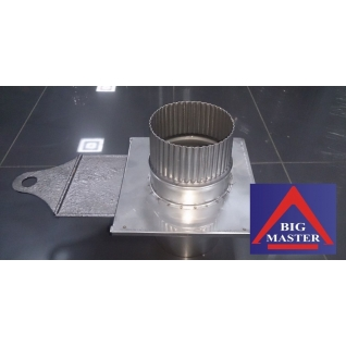 Шибер поворотный D115 мм (нерж. 0,8 мм AISI 304)