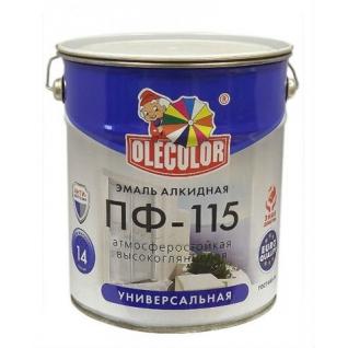 Эмаль алкидная OLECOLOR ПФ-115 светло-фиолетовый, 50 кг