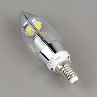 Elvan E14-5W-6000K-Q68 Лампа LED (Свеча хром)