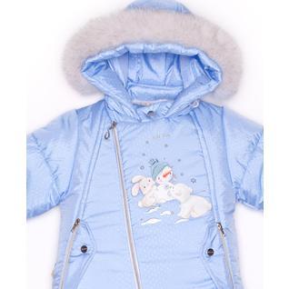 Комплект MalekBaby (Куртка + Полукомбинезон), С опушкой, Голубая точка арт.412ШМ/2