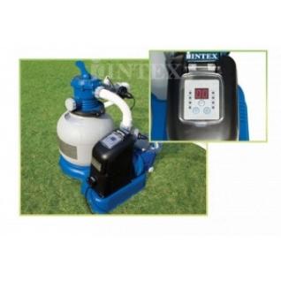 Песочный фильтр + хлорогенератор для очистки воды бассейнов Krystal Clear Combines INTEX 56678