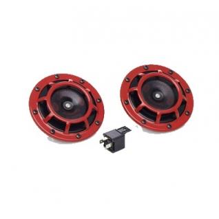 Звуковой сигнал Hella 300-500 гц красные 3AG 003 399-801