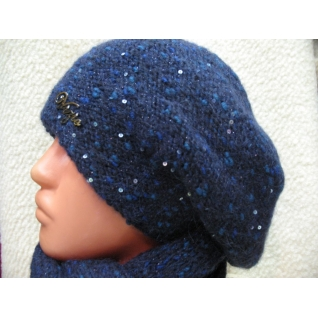 Берет и шарф вязаный комплект Италия Vizio 5170 коллекция 2015