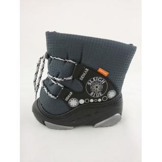 4016 сноубутсы Демар серый хромовый шнурок, р.20-28 (28) Demar