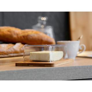 Масленка ПМ: BRAVO Масленка/Сырница 19,5*13*5см, бамбук, пластик BRAVO