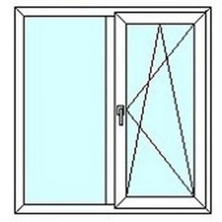 TEPLOWIN Двухстворчатое окно Darrio Гост 100 с одной створкой