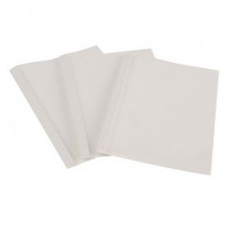 Обложка для термопереплета Promega office белые,карт./пласт.,14мм,80шт/уп.