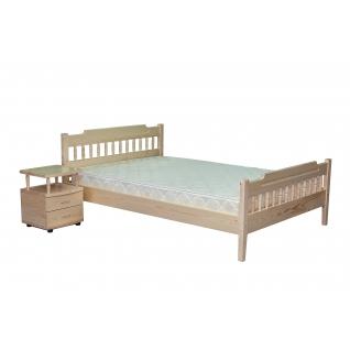 Кровать сосна с двумя спинками