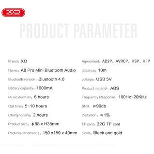 Беспроводная колонка XO a8 pro