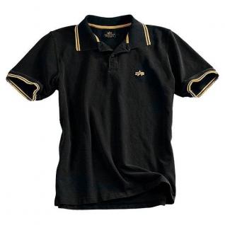 Alpha Industries Рубашка поло Alpha Industries, цвет черно-желтый