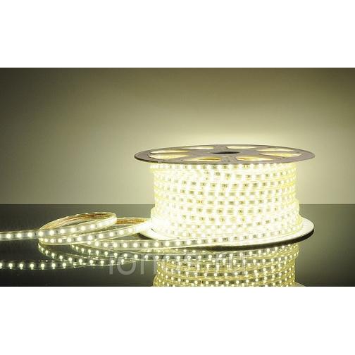 Светодиодная лента для уличного освещения. Белая. 220V 649