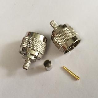 ВЧ разъем N типа вилка (папа) (N--111F), обжимной, под коаксиальный кабель RG-58, пин под пайку. Kabelprof