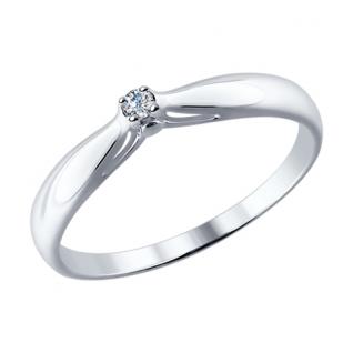 Кольцо из серебра с бриллиантом SOKOLOV 87010002 87010002 SOKOLOV