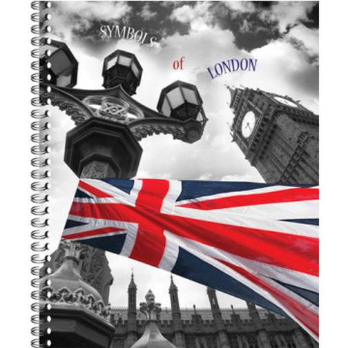 Тетрадь общая 80 л. кл. А4 формат London греб. арт. ТО80А49375 37874424 2