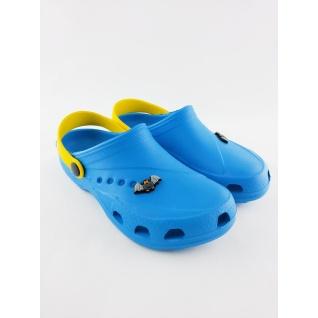 610-01М кроксы голубой/желтый. дюна 27-34 (29) Дюна