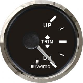 Wema Индикатор положения транцевых плит чёрный/серебряный Wema Trim 0 - 180 Ом 12/24 В
