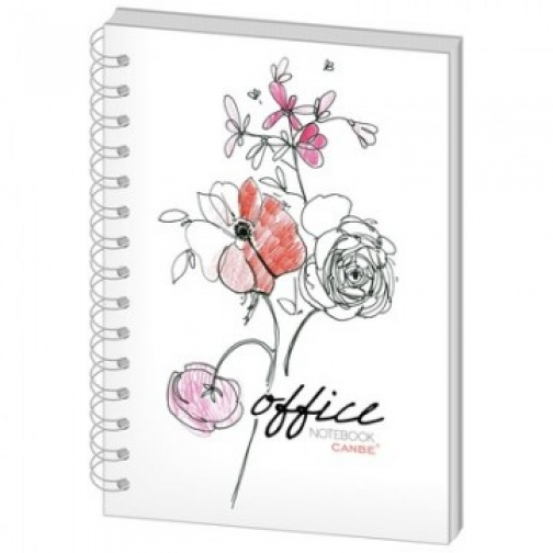 Бизнес-тетрадь 60л,кл,А5,Office Flowers,тв.пер,спир,УФ(СВА5-60OF) 37850261 2