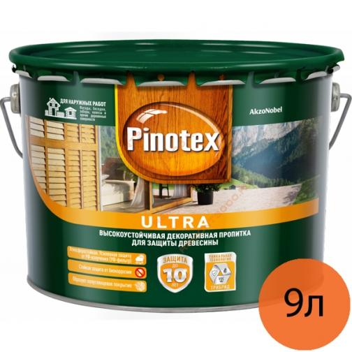 ПИНОТЕКС Ультра антисептик высокоустойчивый белый (9л) / PINOTEX Ultra высокоустойчивая декоративная пропитка по дереву белый (9л) Пинотекс 36984114