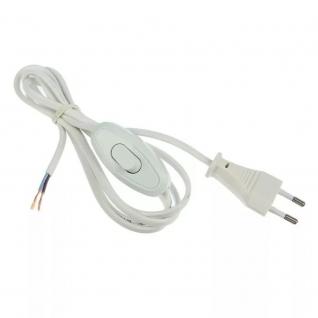 Шнур с электровилкой и выключателем Белый Universal 1.7м