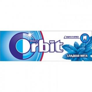 Жевательная резинка Orbit сладкая мята мультипак, 10шт, 136г