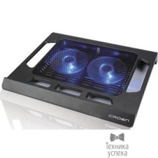 "Crown CROWN Подставка для ноутбука CMLS-937 (Black) 15,6"", 2*Fan,blue light"