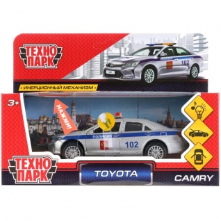 "Тм Технопарк.Машина Металл ""Toyota Camry Полиция"", Дл 12 См, Свет-Звук, Откр Дв, Багаж,"