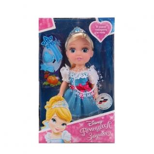 "Кукла ""Карапуз"" Disney Princess. Золушка 15см Озвуч., С Аксесс. В Русс."