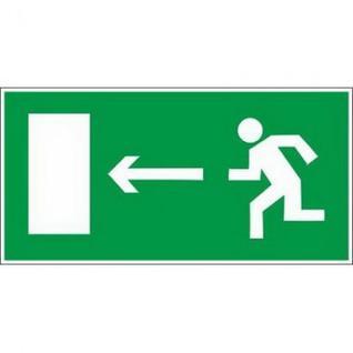 Знак безопасности E04 Напр-е к эв.вых.налево(плёнка,ф/л,300х150)уп.10шт