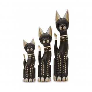 "Набор статуэток ""3 коричневых кота"""