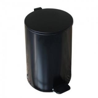 Ведро мусорное с педалью 20л стальное, черное, 250х400мм