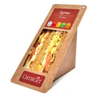 Сэндвич с копченой курицей, яйцом и беконом замороженный 164 г