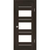 Дверное полотно Profilo Porte PS-11 Цвет Дуб перламутровый, Мокко, Стекло