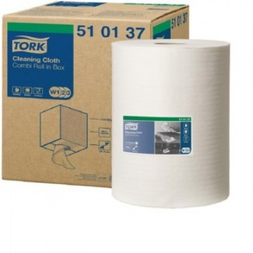 Материал протирочный нетканый Tork W1/W2/W3 400лx1рул/кор, белый 510137 37862920