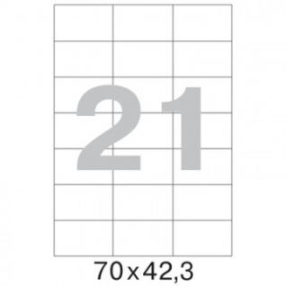 Этикетки самоклеящиеся супер-клейкие Promega label 70х42,3мм.А4.100л/уп