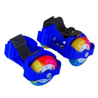 Двухколесные ролики (свет), синие, 2 шт. Moby Kids