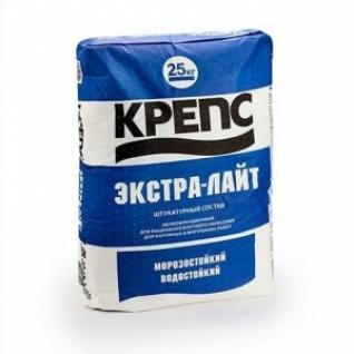 Штукатурка Крепс Экстра-Лайт цементно-известковая /25,0 кг/ (48 шт на поддоне)