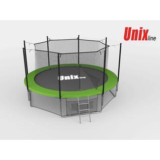 UNIX Батут Unix 14 ft с внутренней сеткой Зеленый