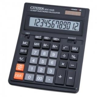 Калькулятор настольный ПОЛНОРАЗМЕРНЫЙ CITIZEN бухг.SDC-444S 12 разр. DP