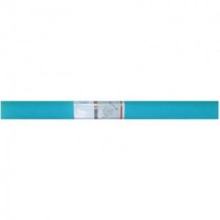 Бумага для творчества креповая WEROLA, 50см*250см 32г/м бирюзовая,12061-124