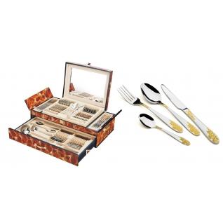 Столовый набор 72 предмета Hans Müller, Виноград, коричневый мрамор