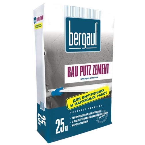 БЕРГАУФ Бау Путц Цемент штукатурка цементная (25кг) / BERGAUF Bau Putz Zement штукатурка цементная фасадная (25кг) Бергауф 36984092