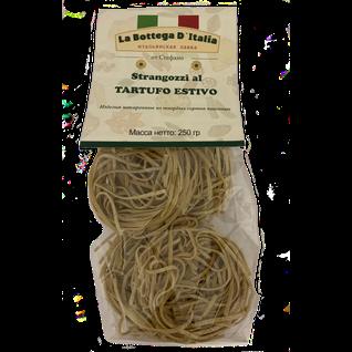 """La Bottega Паста из муки твердых сортов пшеницы с летним черным трюфелем """"Странгоцци аль тартюфо"""" ТМ """" Giuliano TARTUFI"""", 250 гр."""