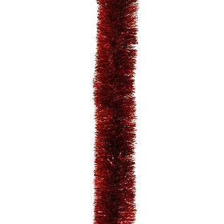 Мишура Норка на проволоке цветная 50 мм красная № 25